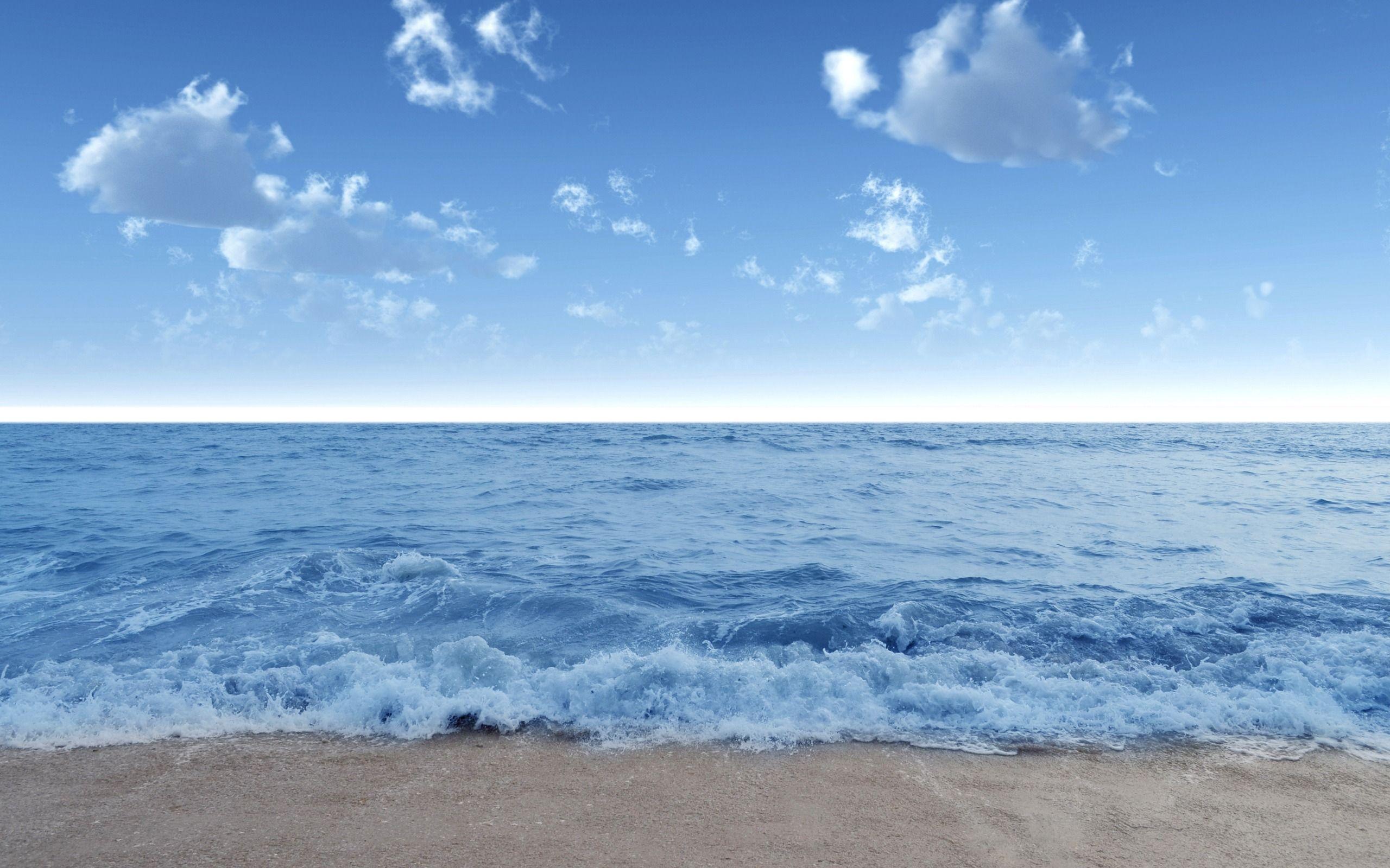Light blue grey waves