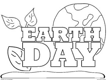 Kindergarten Earth Day Colouring Pages