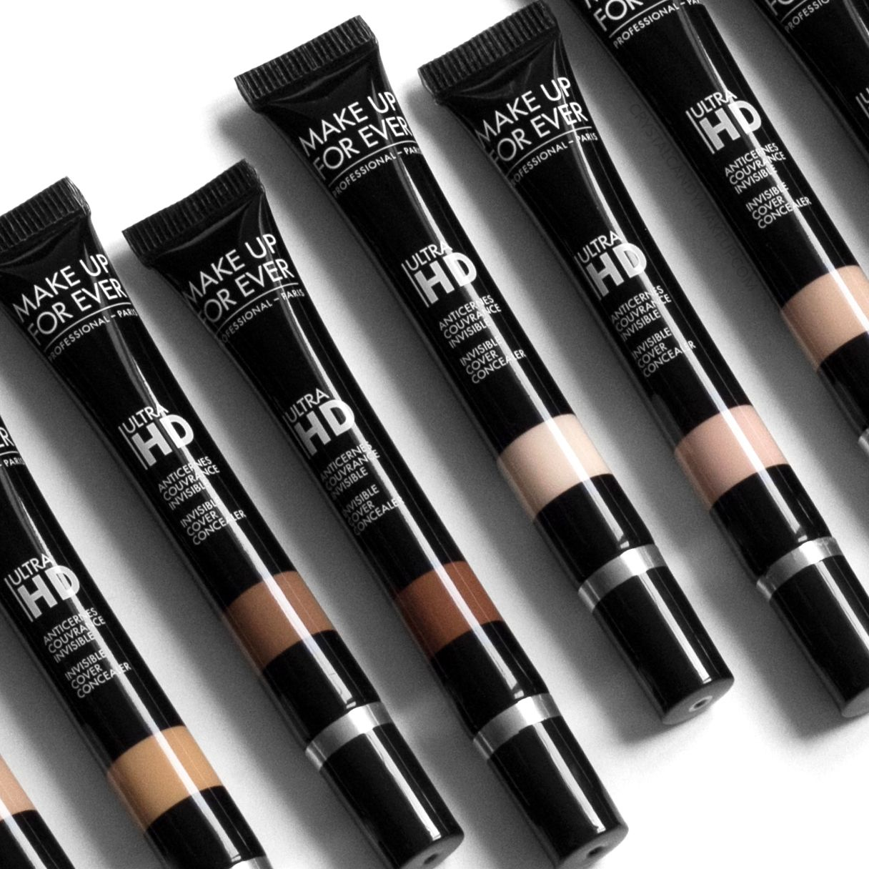 Make Up For Ever Ultra HD Concealers, swatches of all the