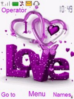 download purple love s40 theme 39893 from free nokia themes