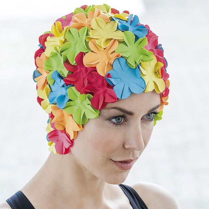 Bonnet De Bain Femme Fantaisie À Fleurs Multicolore - Abysse-Sport