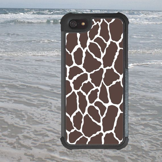 iPhone 5 5S Tough Case Brown Giraffe Design by TRowanDesign