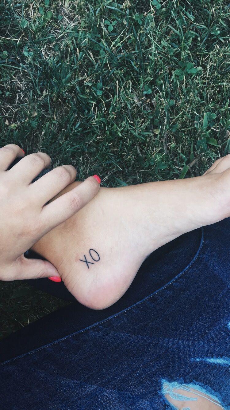 Xo Ankle Foot Tattoo Ankle Foot Tattoo Small Back Tattoos Xo Tattoo