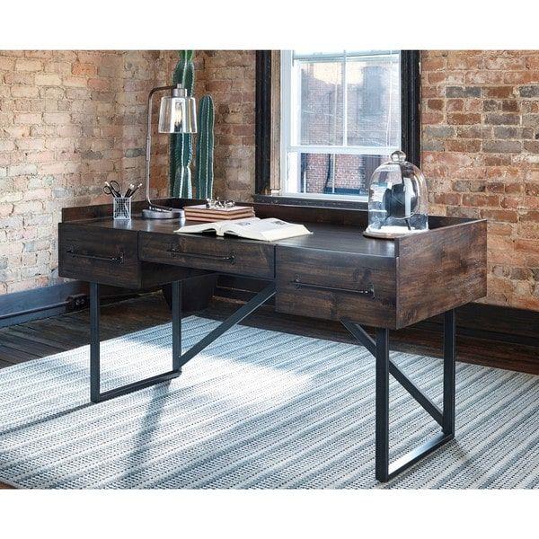 signature design by ashley starmore brown home office desk rh nz pinterest com