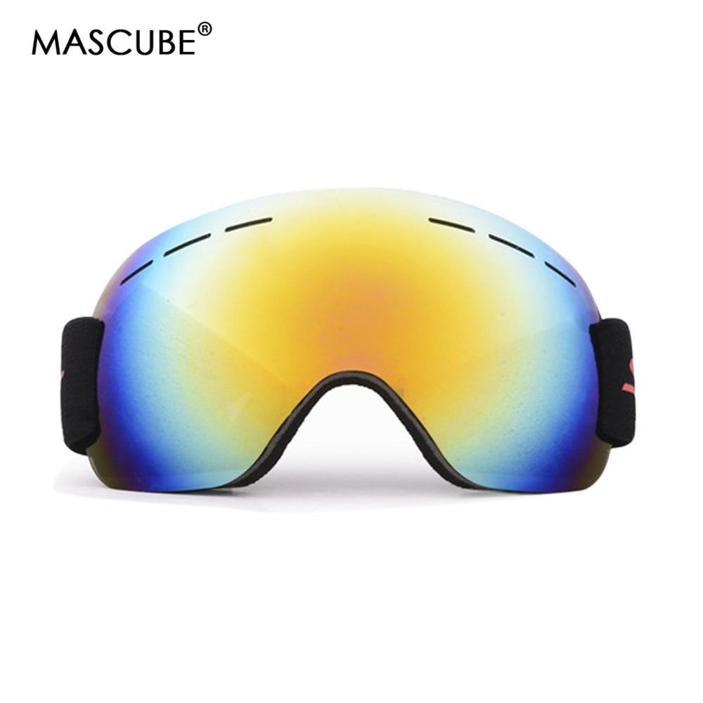 f3300f571cae MASCUBE Brand Ski Goggles UV400 Anti-fog Big Ski Mask Glasses Skiing Men  Women Snow Snowboard Goggles