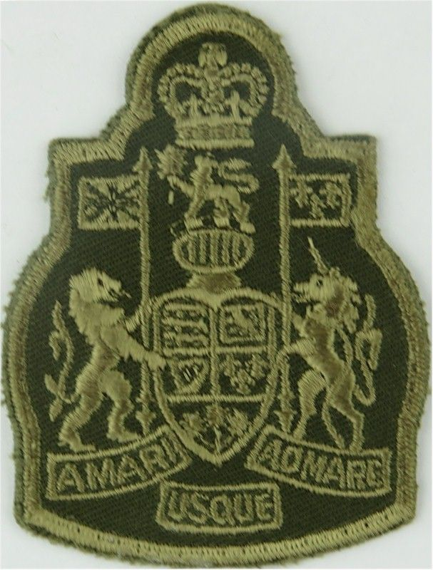 Chief Warrant Officer - Canadian Army Green On Olive with