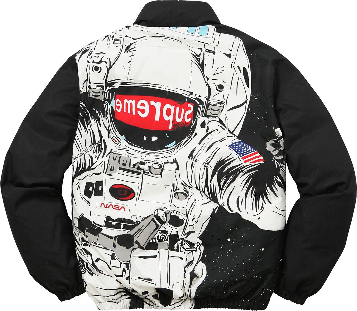 Supreme Astronaut Puffy Jacket Supreme Clothing Puffy Jacket White Puffer Jacket [ 1045 x 1200 Pixel ]