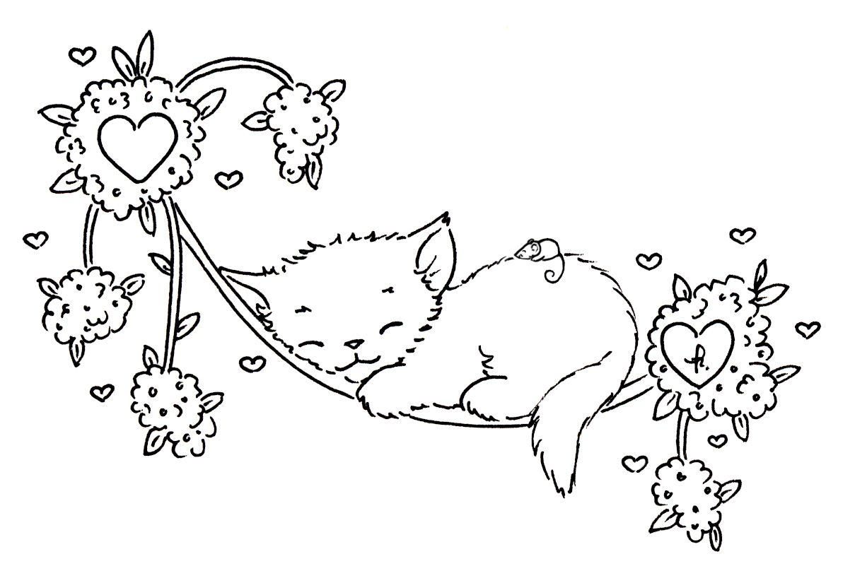 Sleepy Kitten Coloring Pages Bordado Pintar Dibujos Para Bordar