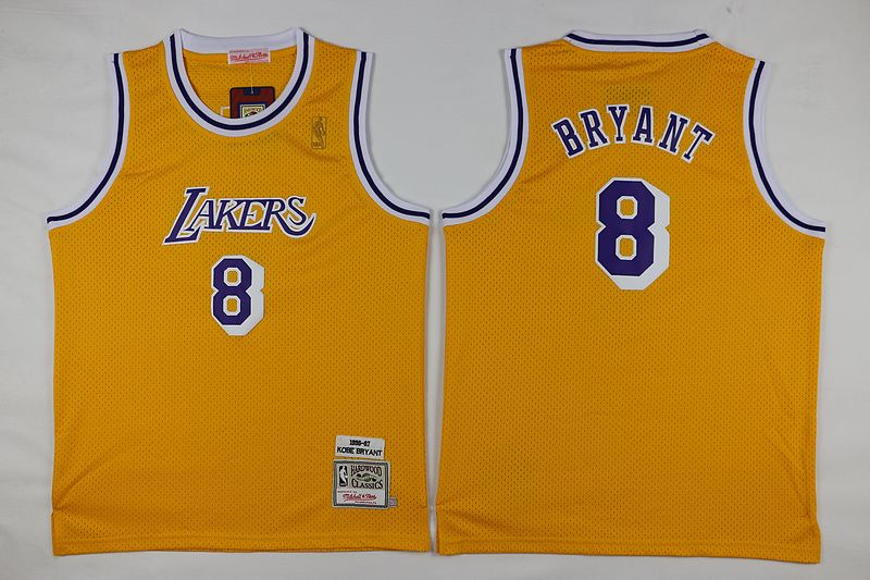 f32dbc3fd ... youth los angeles lakers 8 kobe bryant 1996 97 yellow hardwood classics  soul throwback