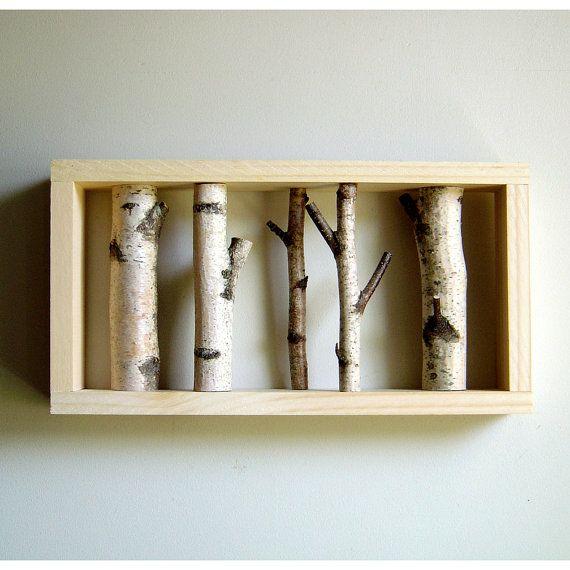 white #birch forest - #organic wall art www.virtualdesignlab.etsy ...