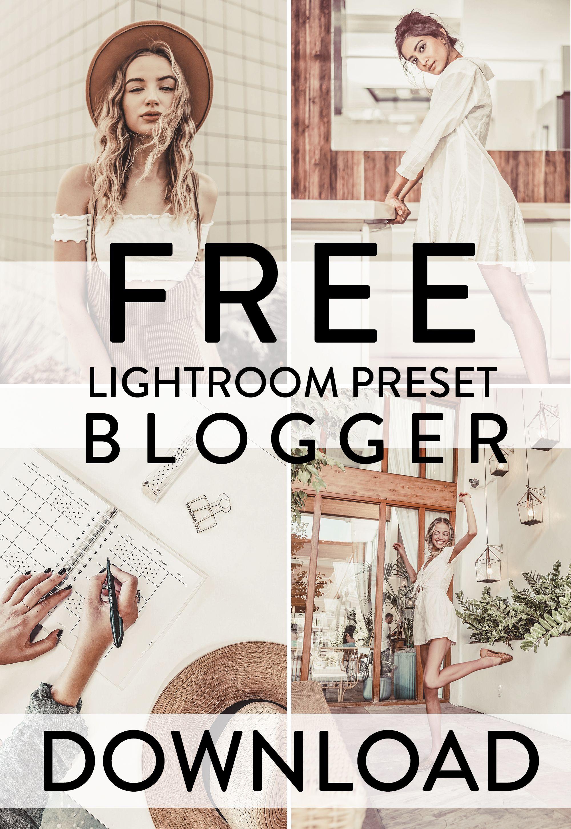 Free Lightroom Preset BLOGGER download