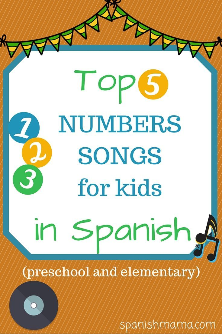 Spanish colors for preschool - Los N Meros Top 5 Numbers Songs In Spanish Series Of Favorite Songs For Preschool