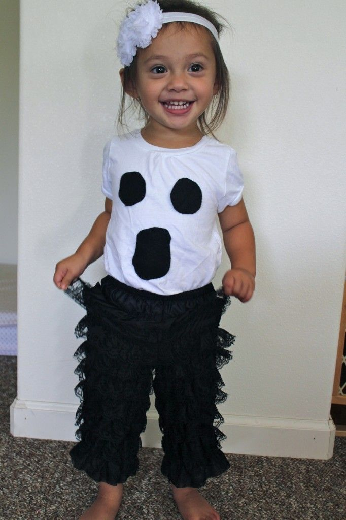 Cute! Maybe pants instead of a tutudifferent and so cute Haylie - halloween ghost costume ideas