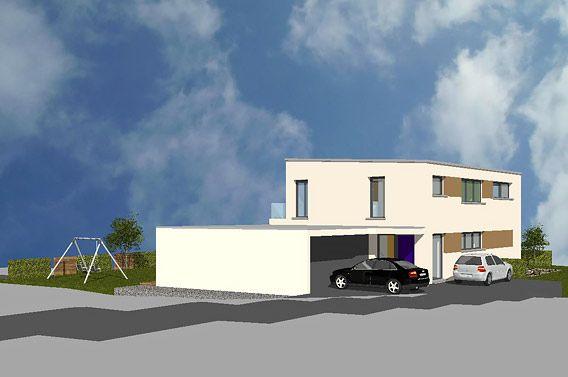 neubau eines einfamilienhauses mit flachdach und doppelgarage in ravensburg 4 h user. Black Bedroom Furniture Sets. Home Design Ideas