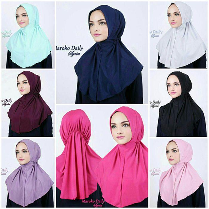 Jilbab Instan Hijab Maroko Daily Syria Jersey Zoya Kerudung Hijab Kursus Hijab