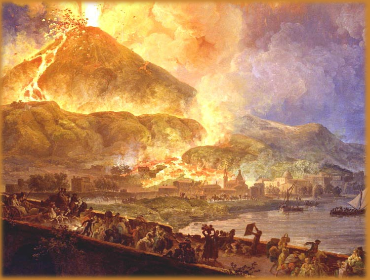 the mount vesuvius volcano Mount vesuvius near pompeii, italy, begins to erupt on this day in the year 79  within the next 25 hours, it wipes out the entire town hundreds of years later,.