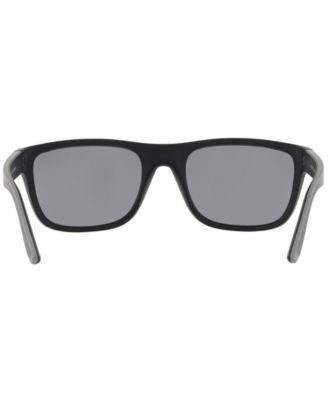 45cf00f35262 Polo Ralph Lauren Polarized Sunglasses, PH4145 56 - MATTE BLACK/RUBBER  GREY/POLAR GREY