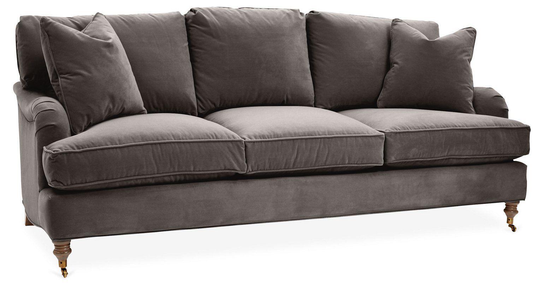 Brooke 3 Seat Sofa Charcoal Velvet