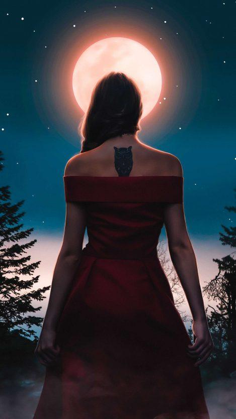 Owl Tatto Girl iPhone Wallpaper Free GetintoPik (With