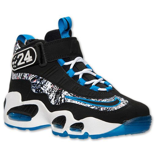 buy popular 4026e d09e6 Men s Nike Air Griffey Max 1 Training Shoes   Finish Line   Black Light  Photo Blue White