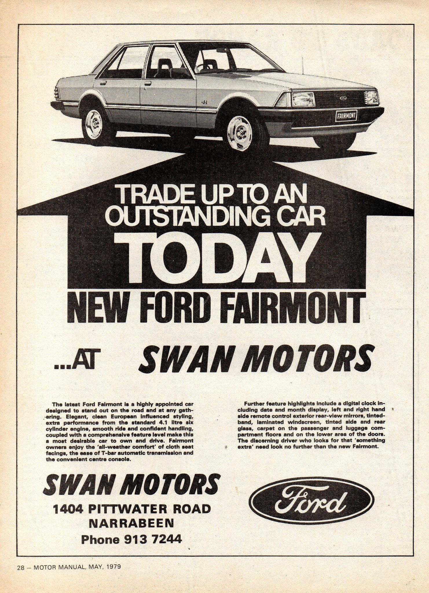 1979 Swan Motors Xd Ford Fairmont Aussie Original Magazine Advertisement Ford Ford Motor Company Ford Fairlane