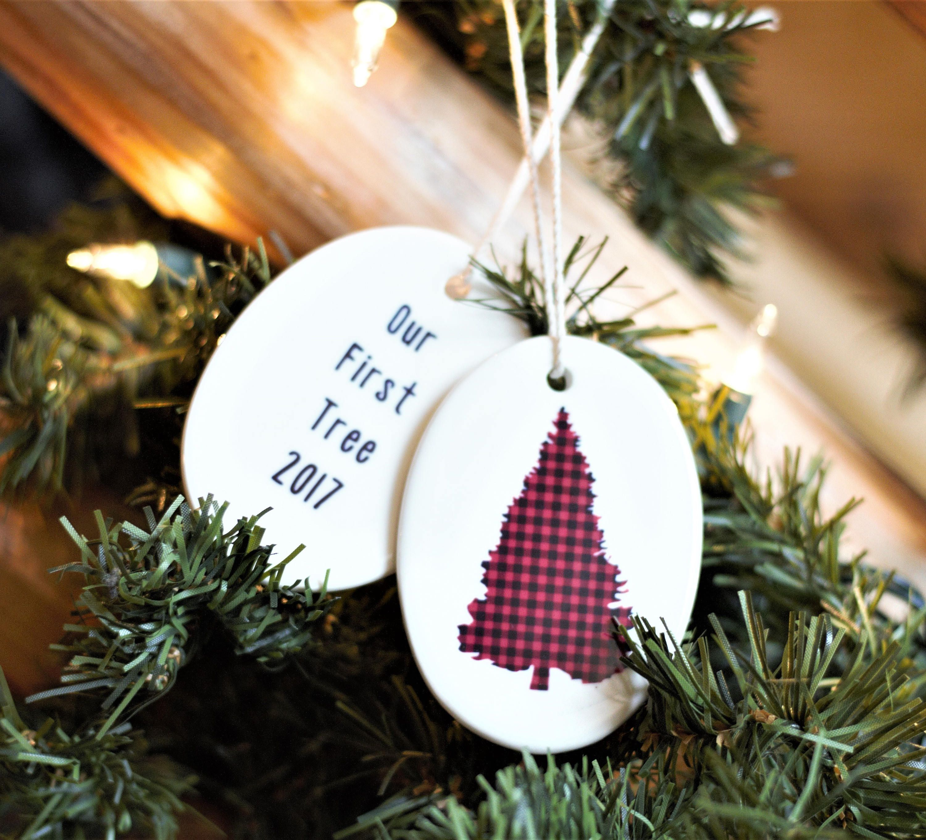 First Christmas Ornament Married, First Home Ornament, First Tree ...