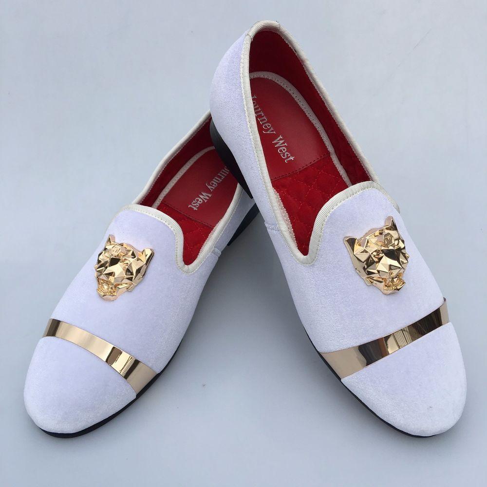 Handmade Mens Velvet Loafers Slippers