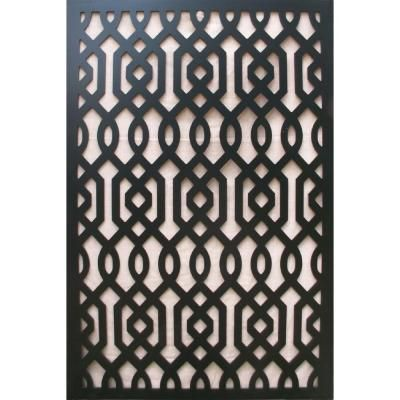1 4 in x 32 in x 4 ft black azzaria vinyl decor panel for Porch screen panels home depot