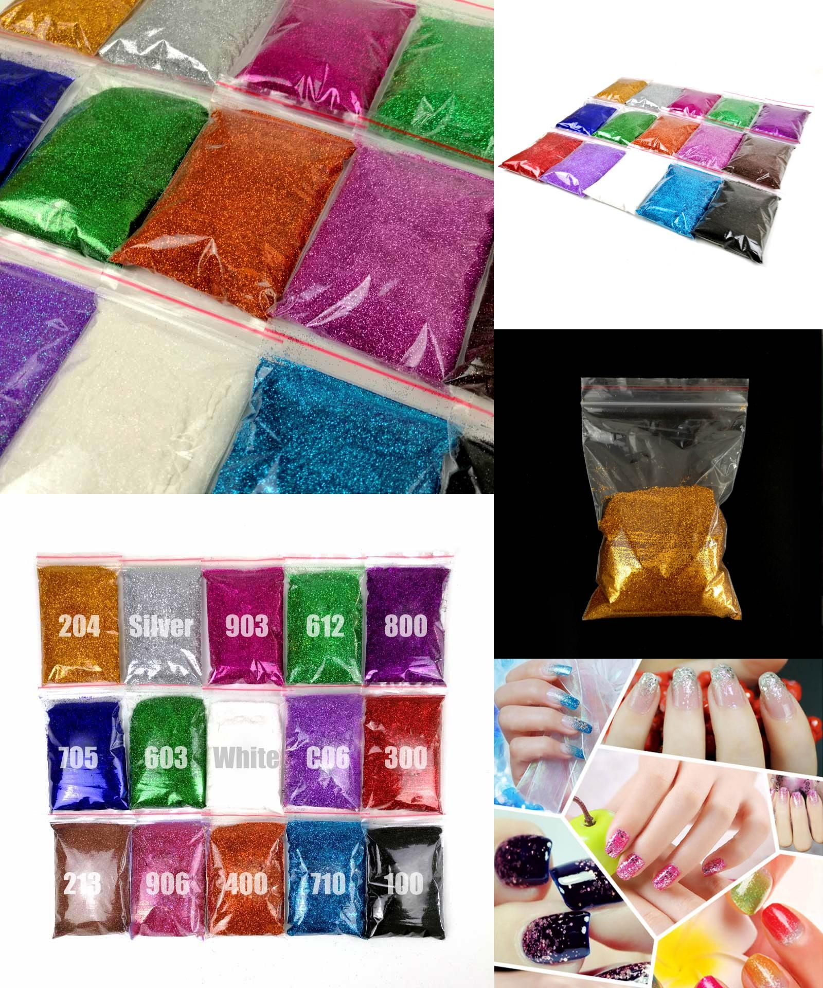 Visit to Buy] 50g Acryl Glitter Powder Colored Acrylic Nail Powder ...