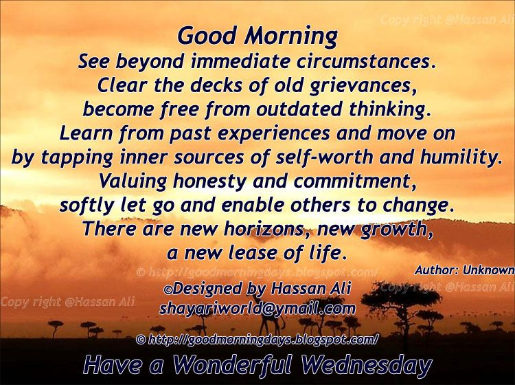 Good Morning Wednesday Inspirational Quotes Any day