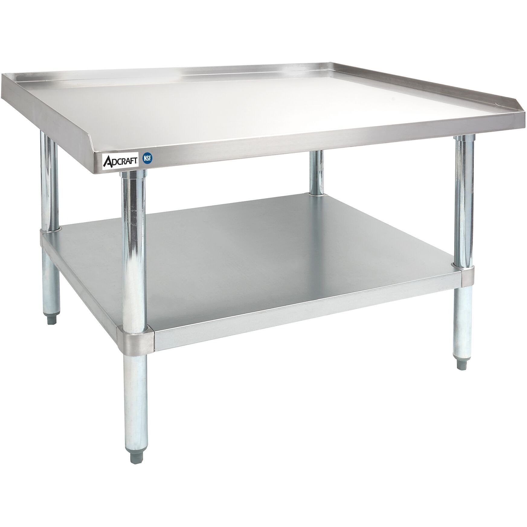 Sportsman Series Upturned Edge Stainless Steel Work Table 24 x 48 w Splash Guard