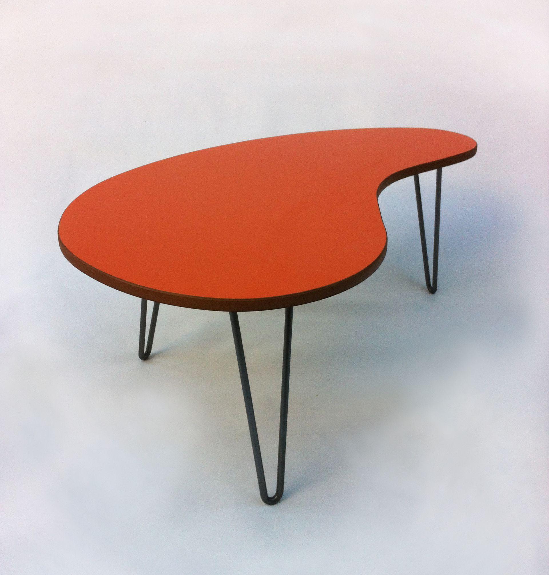 Kidney Bean Shaped Mid Century Modern Coffee Coffee Table Atomic Era Design Kidney Table [ 2008 x 1920 Pixel ]