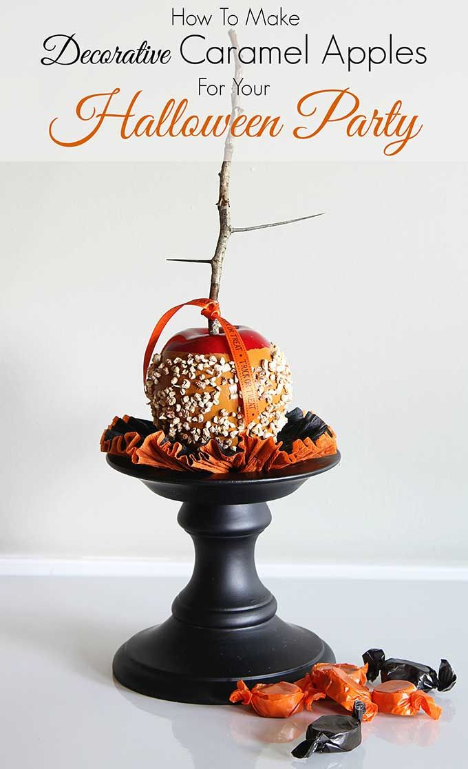 Making Faux Caramel Apples (For Fall Decor) Quick and easy instructions for making faux caramel apples. A great addition to your DIY fall decor (how cute would these look sitting on a plate in your kitchen) and great for Halloween party decorations too!
