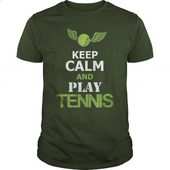 KEEP CALM AND PLAY TENNIS - #funny graphic tees #print shirts. BUY NOW => https://www.sunfrog.com/Sports/KEEP-CALM-AND-PLAY-TENNIS-Forest-Guys.html?60505