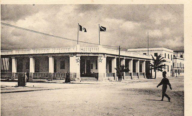 Mogadiscio, sede della ditta Oscar Zanettini by Giuseppe Romano HQ of Italiano Colonial Police