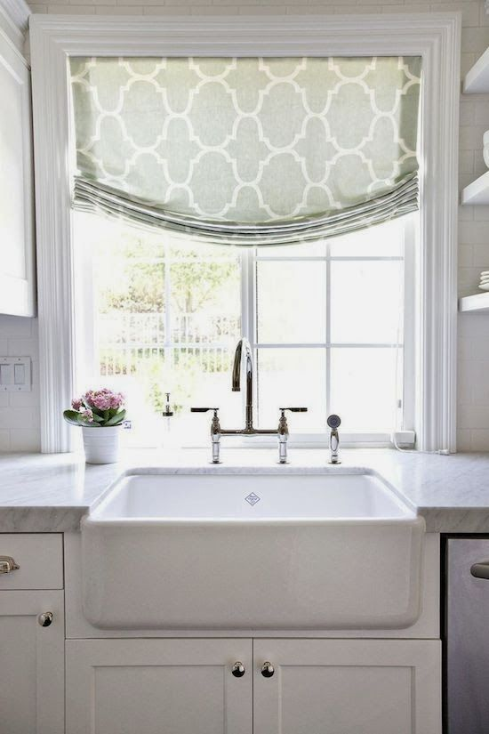 Obsession Du Jour: Shea McGee Design - The Zhush...love the curtain for my kitchen window too!