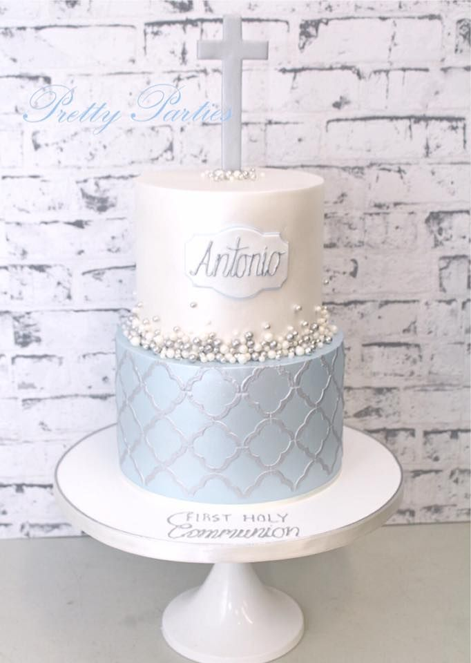 10 Boy First Communion Party Ideas With Images Baptism Cake