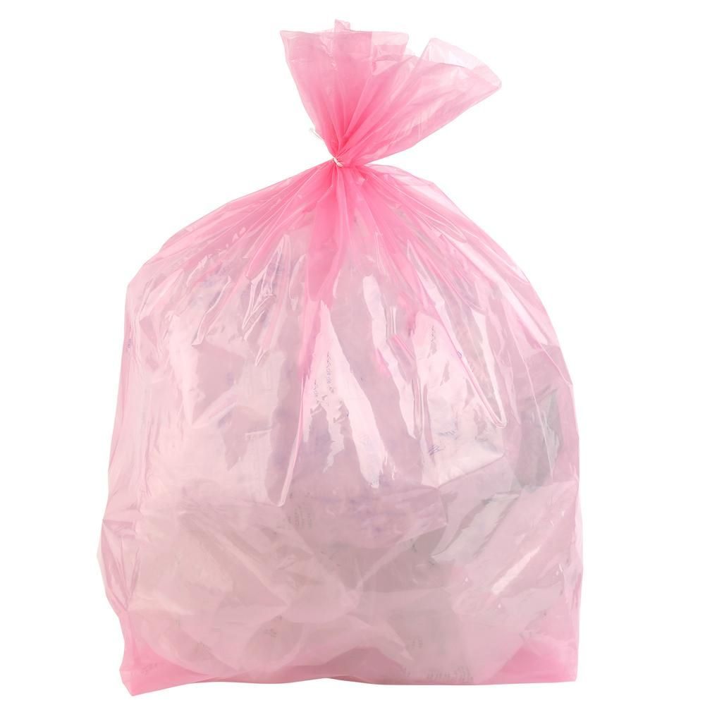 Plasticplace 12 16 Gal Pink Trash Bags Case Of 250 W13pnk12 The Home Depot In 2020 Trash Trash Bags Sorting Trash