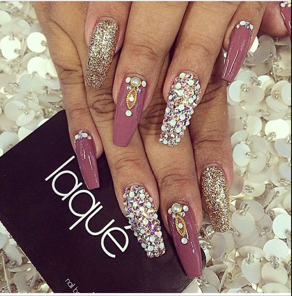 Image result for pink coffin nails | War Face | Pinterest | Mauve ...