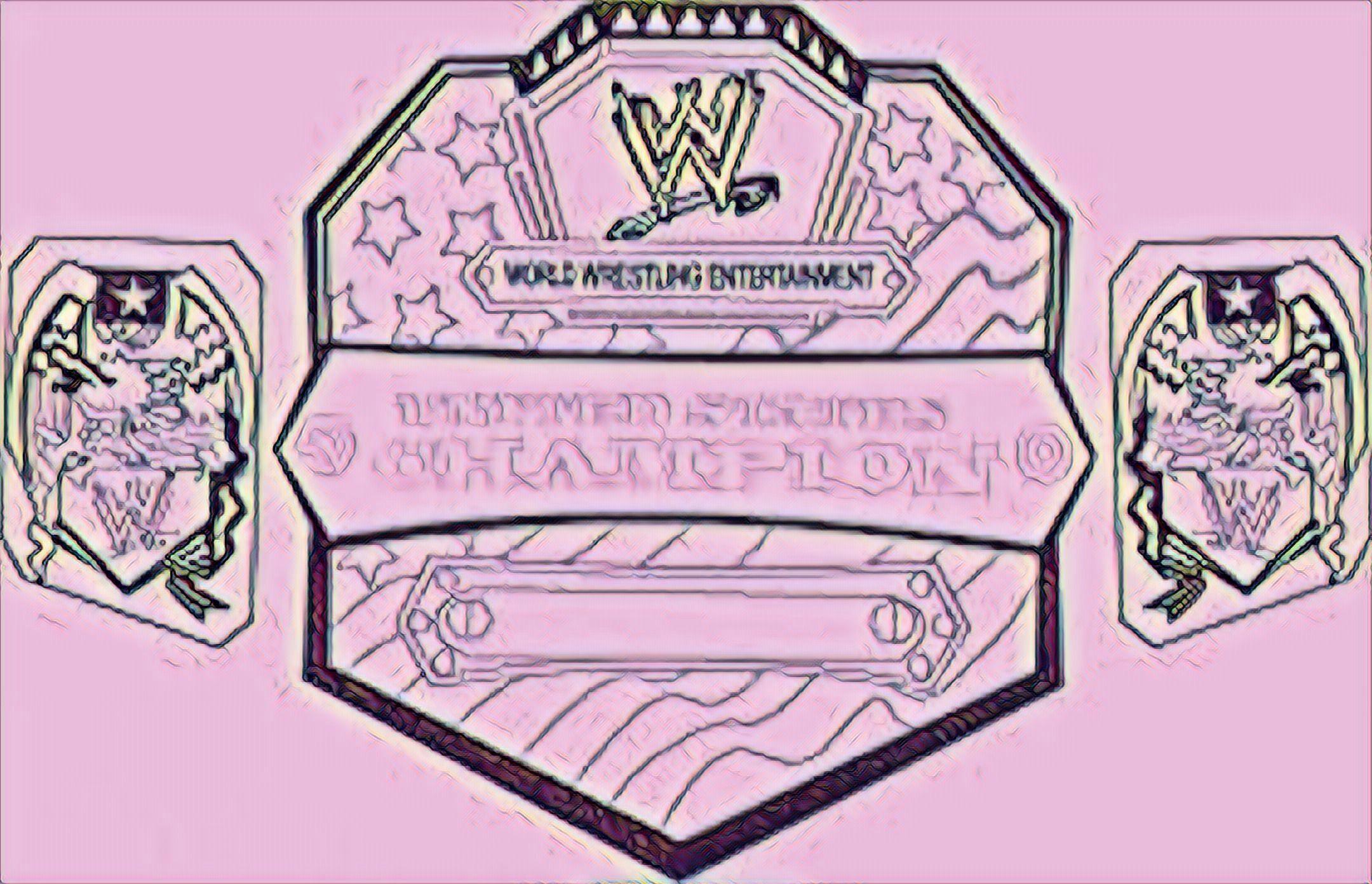 Pin de Corey Bella en Colouring pages WWE Belts Colouring | Pinterest