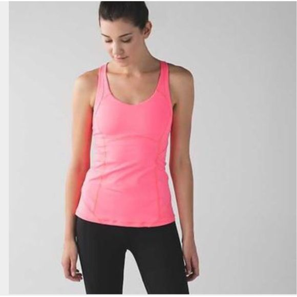 4f8b9a2b17f7c Lululemon Cross Back Fitted Tank NWT Lululemon fitted cross bank tank top.  Built in bra. Luxtreme fabric. New with tags. ❌no trades