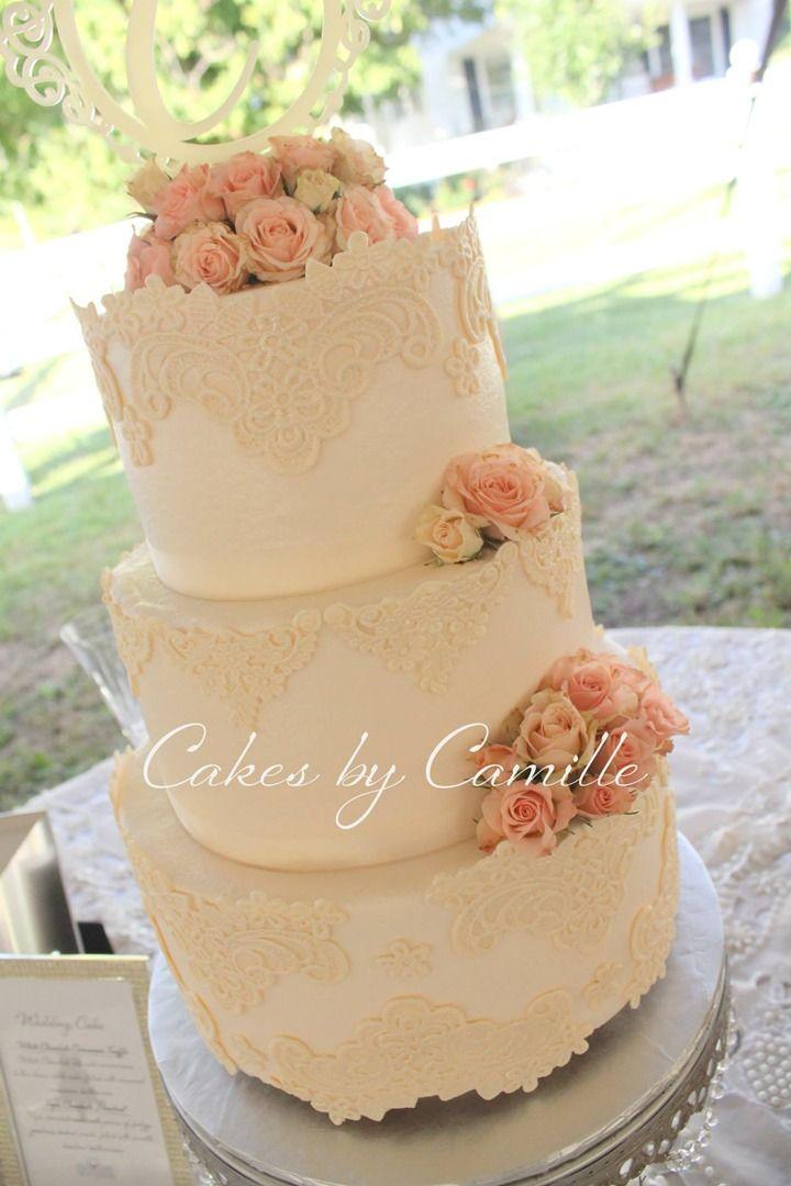 Vintage lace wedding cake | Wedding Cakes | Pinterest | Vintage lace ...
