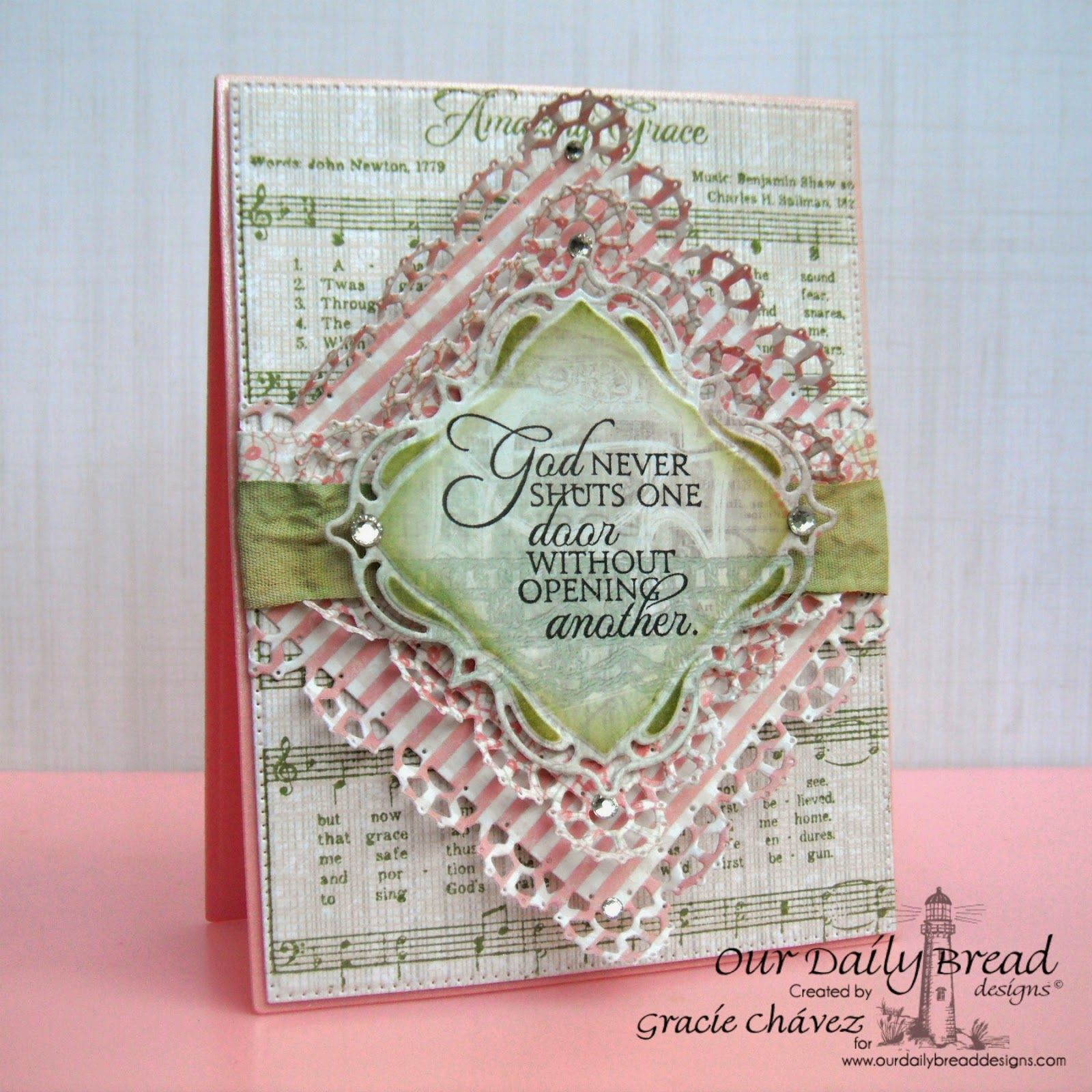Graciellie Design: Card by Gracie Chavez using Beautiful Stamps + Dies from [ODBD] ~ Cards1.