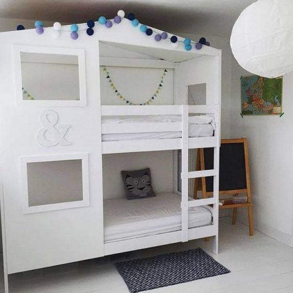 fabriquer un lit superpos en forme de maison chambre pinterest literas cuarto ni a et. Black Bedroom Furniture Sets. Home Design Ideas