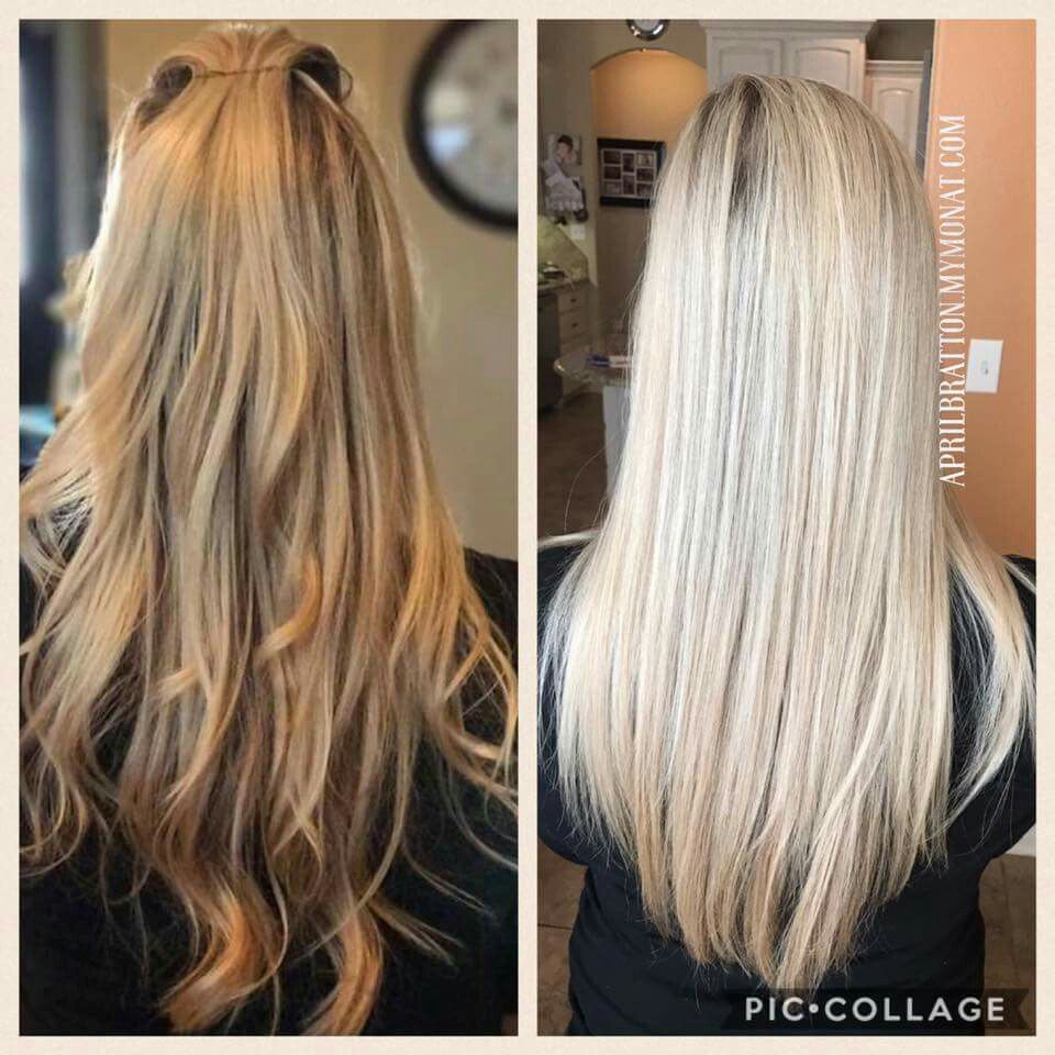 Is Your Blonde Color Turning Brassy Monat Can Fix That Check Out Our Monat Black Shampoo Www Beautybya Monat Hair Purple Shampoo For Blondes Hair Stripping