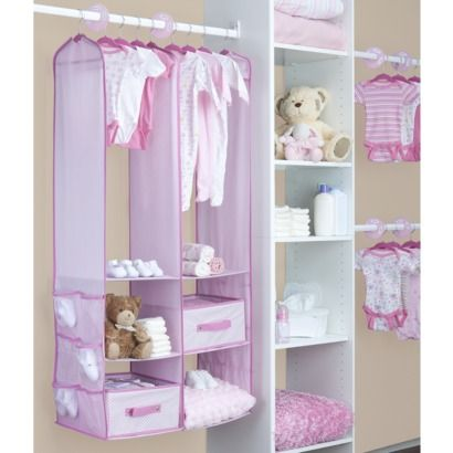 Delta Nursery Closet Organizer - Pink (24 Pieces)