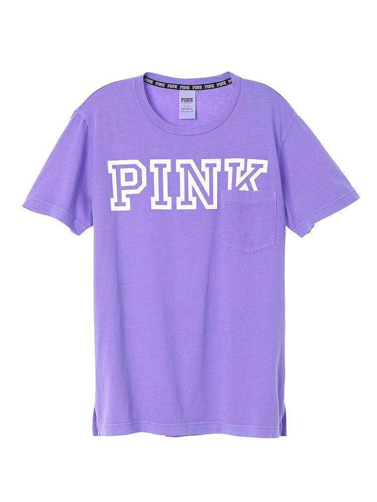 NEW Victoria/'s Secret PINK Campus Short Sleeve Tee Size M//L
