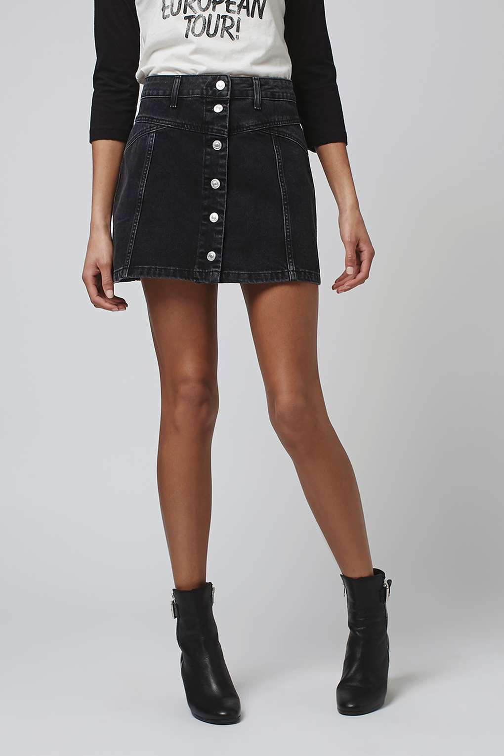 b806a76971c3 PETITE MOTO Button Seam Denim Skirt - New In This Week - New In - Topshop  Singapore