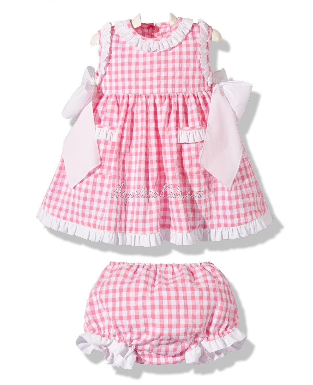 Vestido con braguita cuadros vichy rosa   modelos xa Pau   Pinterest ...