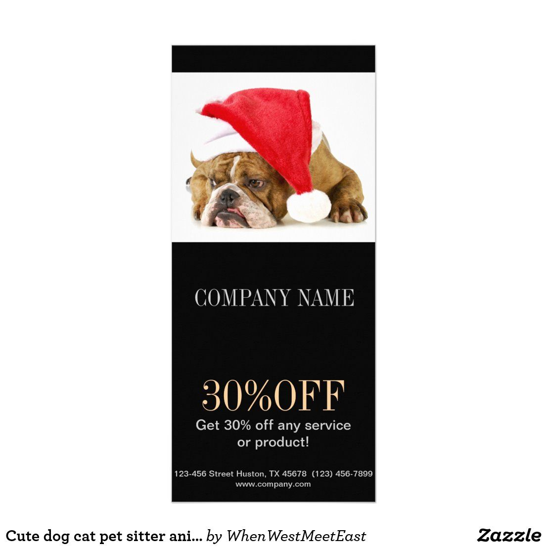 Cute Dog Cat Pet Sitter Animal Sitter Pet Groomer Rack Card Zazzle Com In 2020 Pet Sitters Pet Groomers Cute Dogs